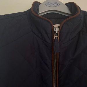 Talbots dark navy quilted vest